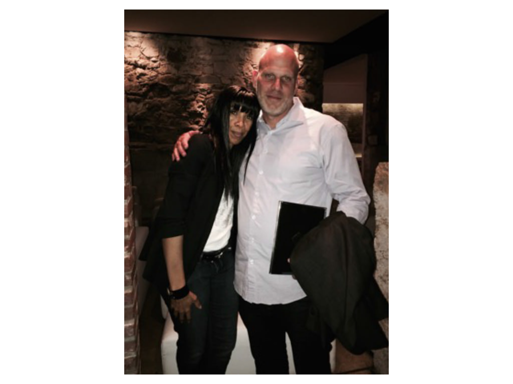 Lauren deLisa Coleman with Straight Outta Compton Executive producer Bill Strauss